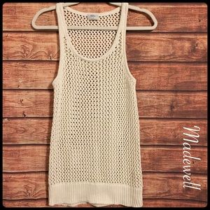 Wallace / madewell open knit sweater tank top